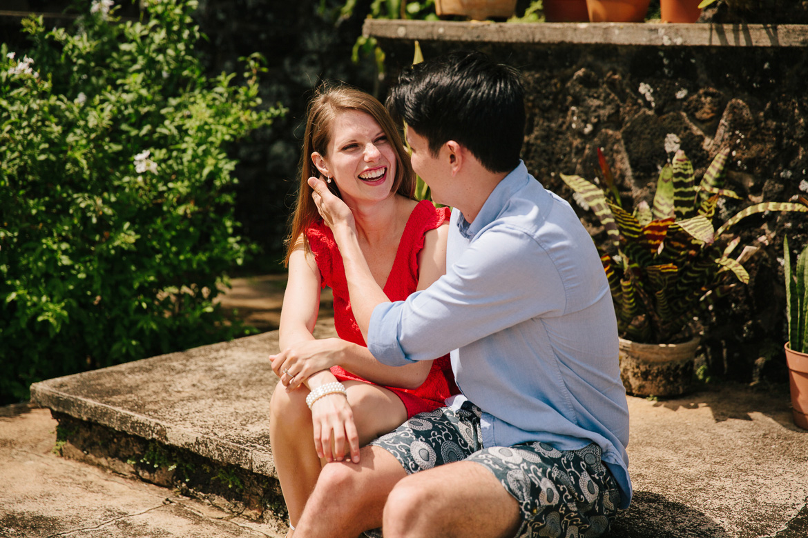 St Raphael Church engagement photos in Kauai, HI